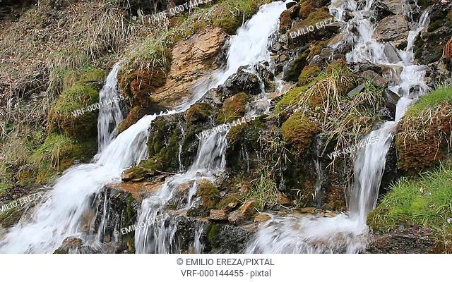 Waterfall. Valle de Aran. Pyrenees. Lleida. Catalonia, Spain