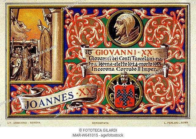 PAPA GIOVANNI XX Giovanni dei Conti Tuscolani, nato a Roma, eletto nel 1024, morto nel 1033. Incorona Corrado II Imperatore