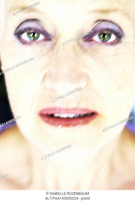 Senior woman, portrait, close-up