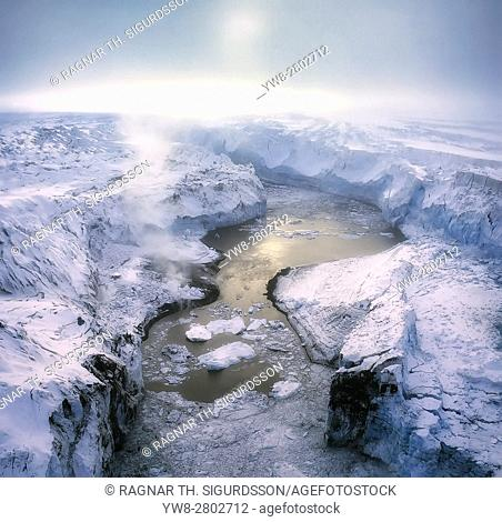 Lake Grimsvotn- The Gjalp Eruption in Vatnajokull Ice Cap, Iceland