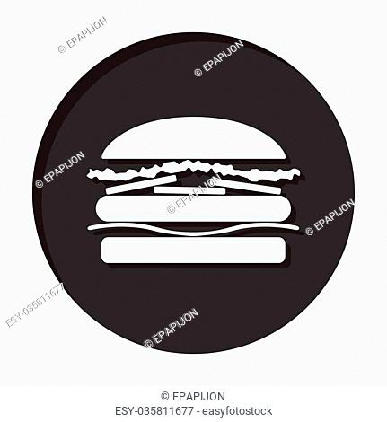 information icon - dark circle with white hamburger and shadow