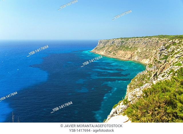Spain, Balearic Islands, Formentera, view from the lighthouse of La Mola