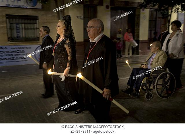 Religious procession in Valencia, Spain