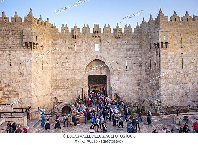 Damascus Gate, muslim Quarter,Old City, Jerusalem, Israel