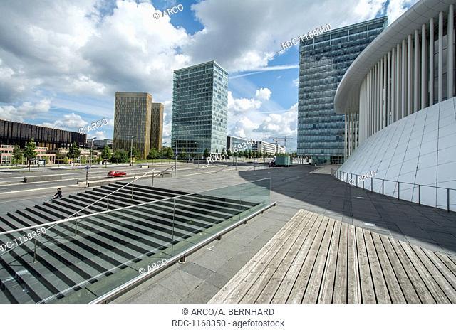 philharmonie, kirchberg, luxembourg, europe