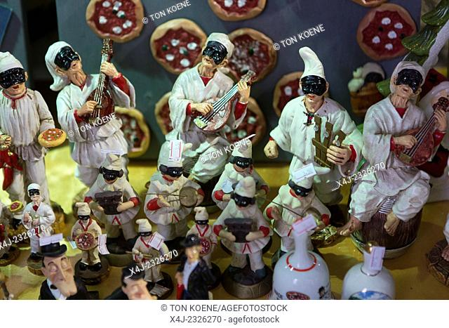 traditional napoli miniatures sold as souvenirs to tourists
