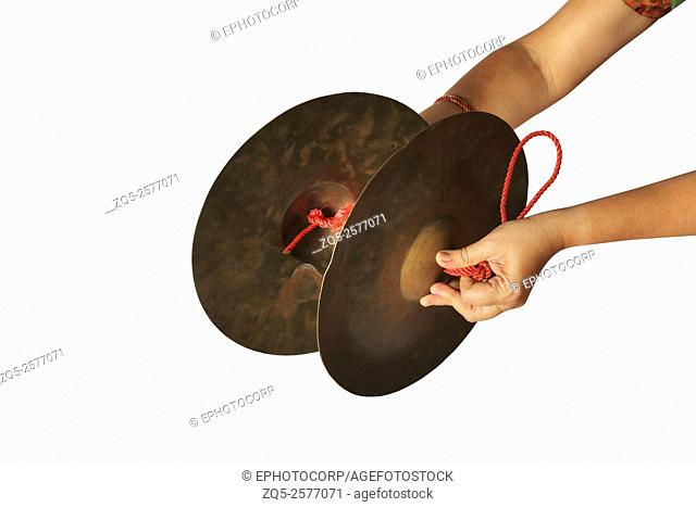 Manjira manjeera, a traditional percussion musical instrument, India