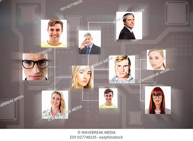 Composite image of composite image of headshots