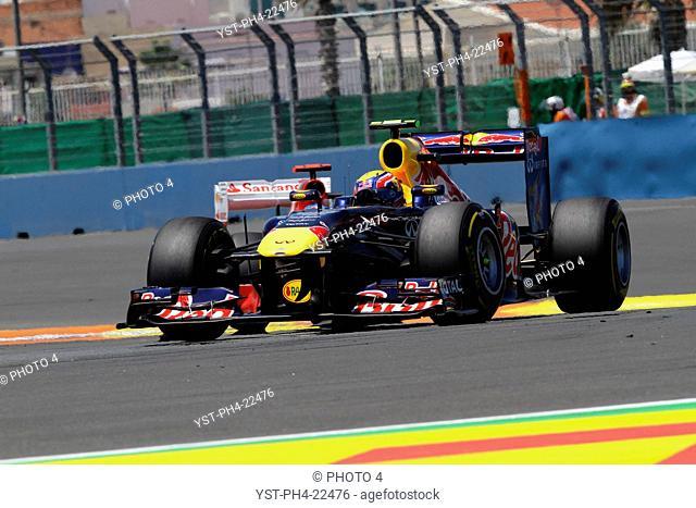 Mark Webber, Formula One, European Grand Prix, Valencia, Spain