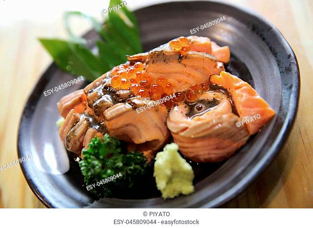 Grilled Salmon sashimi