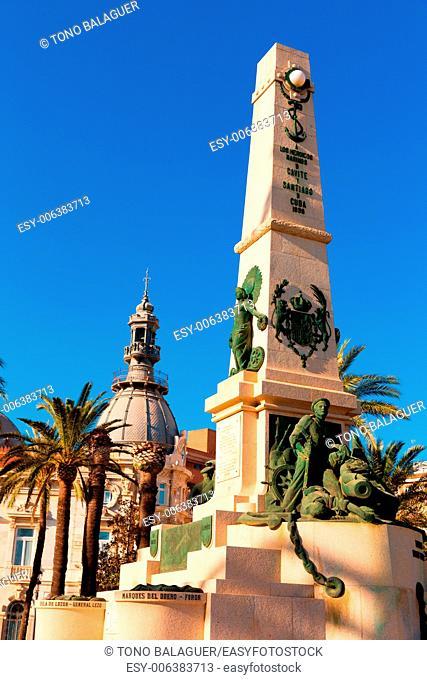 Cartagena Murcia Cavite heroes park memorial in Spain
