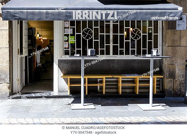 Bar Irrintzi, Old Town, Bilbao, Basque Country, Spain