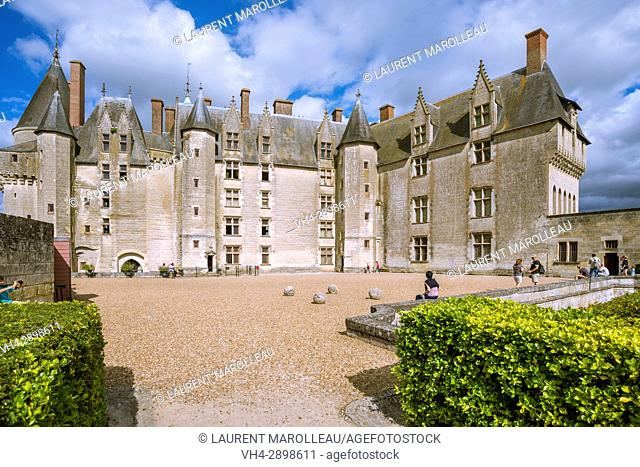 View from the Garden of the Castle of Langeais, Indre-et-Loire, Centre region, Loire valley, France, Europe