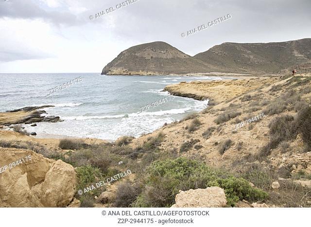 El Playazo beach in Cabo de Gata Almeria Andalusia Spain