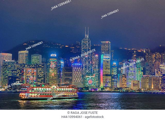 Hong Kong City, Hong Kong Island Sunset Skyline