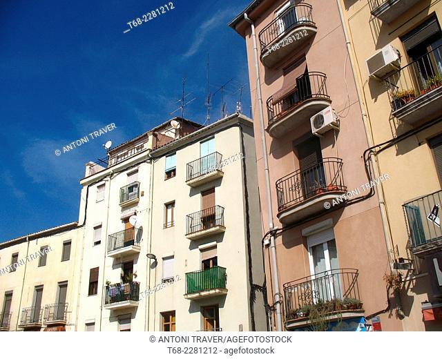 Houses of Old Town, Manresa, Spain