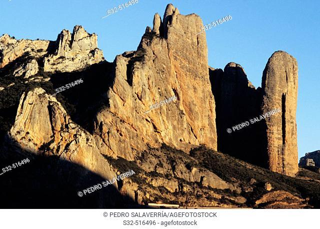 Mallos de Riglos. Huesca province. Spain