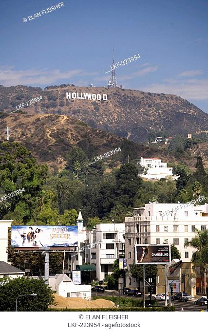 Hollywood sign in the Hollywood Hills, Los Angeles, California, USA, United States of America