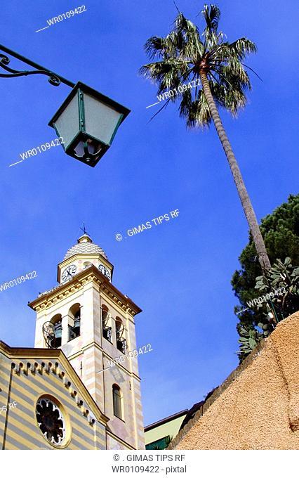Italy, Liguria, Portofino, San Martino church