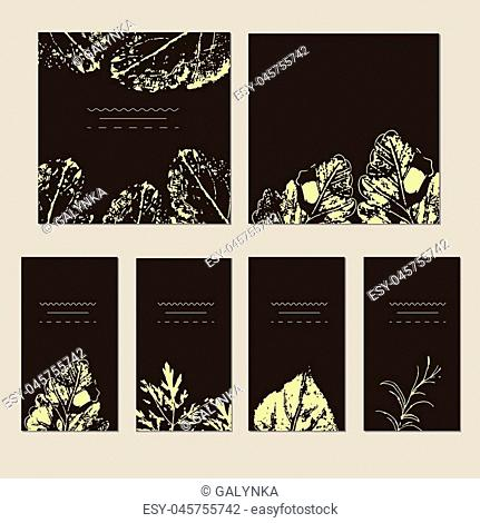 Vector template label with hand-draw wild flowers and herbs. Layout, mockup design for cosmetics, store, natural and organic products