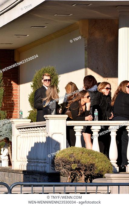 Guests attend a memorial service for the late Mob Wives star Big Ang, before her funeral on Monday Featuring: Anthony Donofrio Where: Manhattan, New York