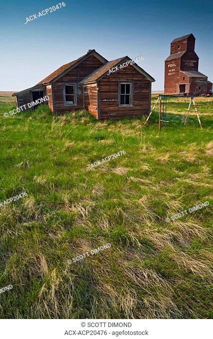 Abandoned farm town, Bents, Saskatchewan, Canada