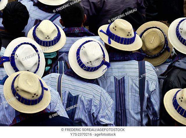 Men wearing hats in Todos Santos, Guatemala, Central America