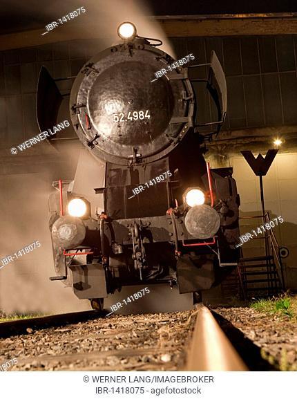 Steam locomotive 52.100, built in 1943 by Krauss Maffei in Munich for the Deutsche Reichsbahn or German Reich Railways, maximum speed 80 km/h