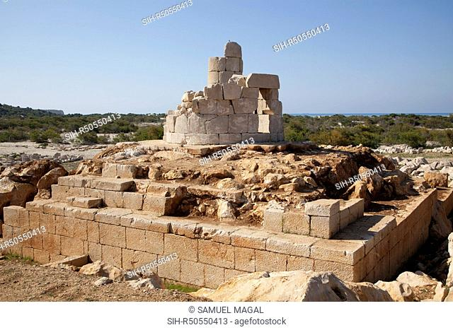 The Patara Lighthouse, dated to 60 BC, under the reign of Neron of the Roman Empire, was unearthed completely in 2005, but it is collapsing daily due to brine...