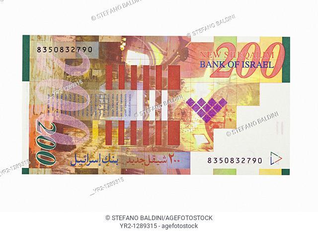 Israeli two hundred shekel bill