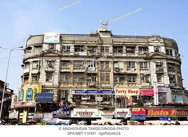 Old building opposite arthur crawford municipal market ; Bombay Mumbai ; Maharashtra ; India