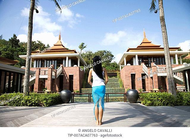 Thailand, Phuket. Trisara Resort Thai Woman
