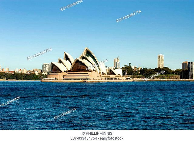 The Sydney Opera House on Bennalong Point, Sydney, Australia