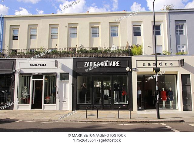 Clothes stores Westbourne Grove Notting Hill London