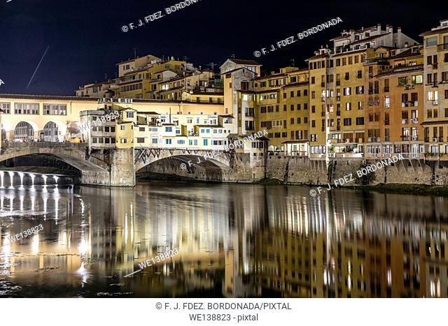 Ponte Vecchio by night, Firenze, Italy