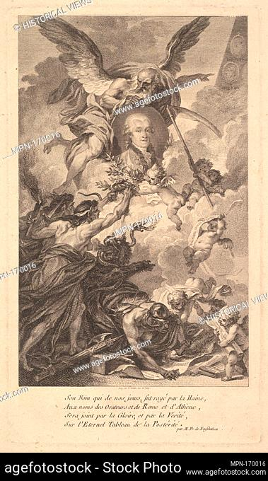 Portrait of Simon-Nicolas-Henri Linguet. Artist: Augustin de Saint-Aubin (French, Paris 1736-1807 Paris); Date: 1780; Medium: Etching and engraving; seventh...
