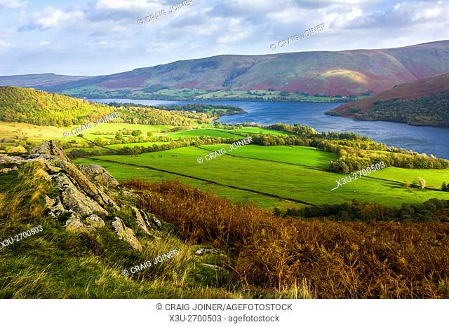 Ullswater, viewed from Gowbarrow Park in the Lake District Park, Cumbria, England