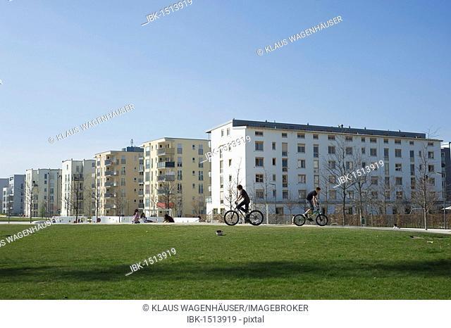 Modern housing, Arnulfpark, Munich, Bavaria, Germany, Europe