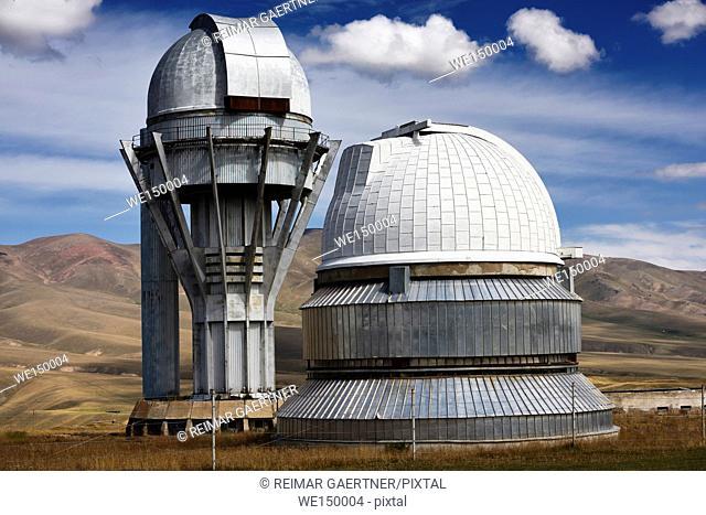Assy astronomical observatory on the mountain plateau of Assy Turgen Kazakhstan
