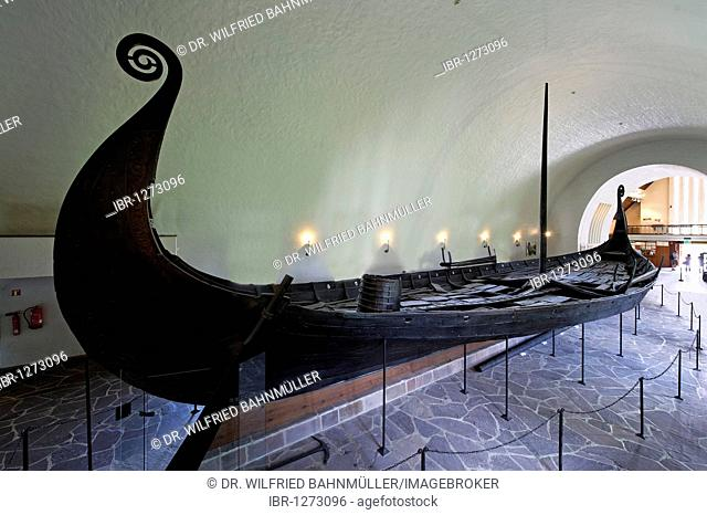 Oseberg shop, found 1904 in Vestfold, from 814-819, Viking ship museum, Vikingskiphuset, Bygdoy, Oslo, Norway, Scandinavia, Europe