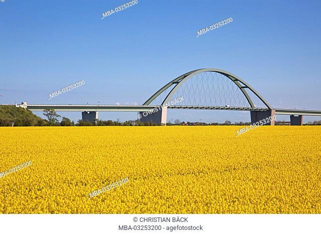 Fehmarnsund bridge across the Sund, island Fehmarn, Schleswig - Holstein, North Germany, Germany