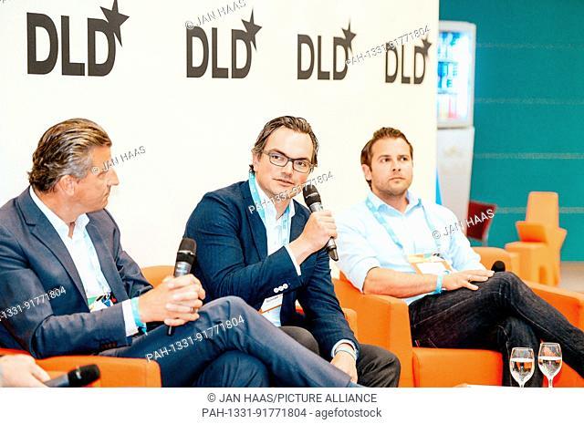 BAYREUTH/GERMANY - JUNE 21: (l-r) Stephan Wehselau (Censhare), Christian Teichmann (Burda Principal Investments) and Niolay Kolev (Deloitte Digital) speak in a...
