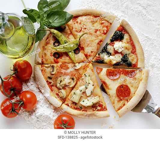 Assorted Pizza Slices, Ingredients