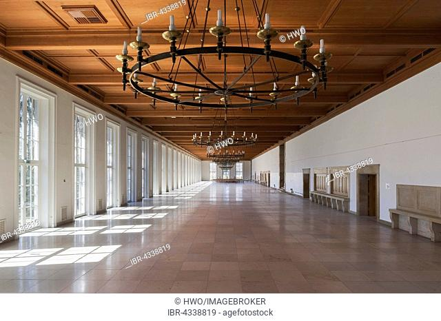 NSDAP Ordensburg Sonthofen, hall in the Nazi architectural style Heimatschutzstil, Indoors, 1935-45 Adolf Hitler educational centre for future leaders of the...