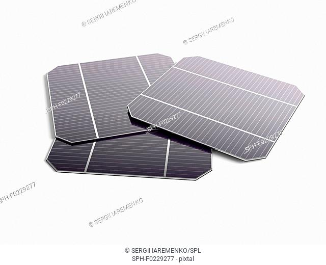 Solar panel module, illustration