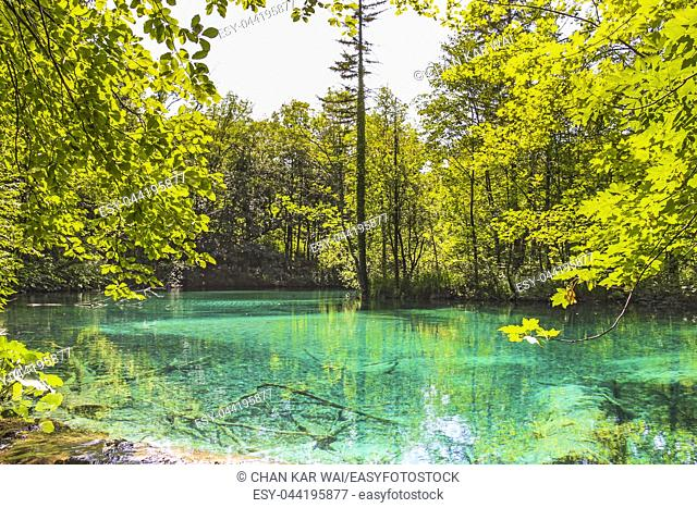 The waters of Lower Lakes at Plitvice Lakes National Park