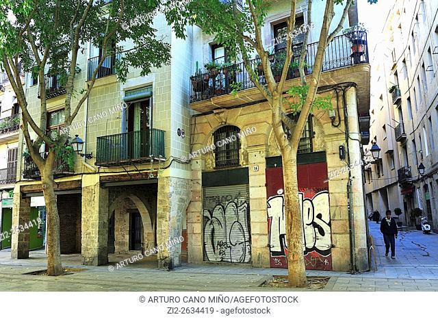 Casc Antic, Old Downtown. Barcelona, Spain