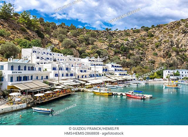 Greece, Crete, south coast, the little village of Loutro only reachable by boat