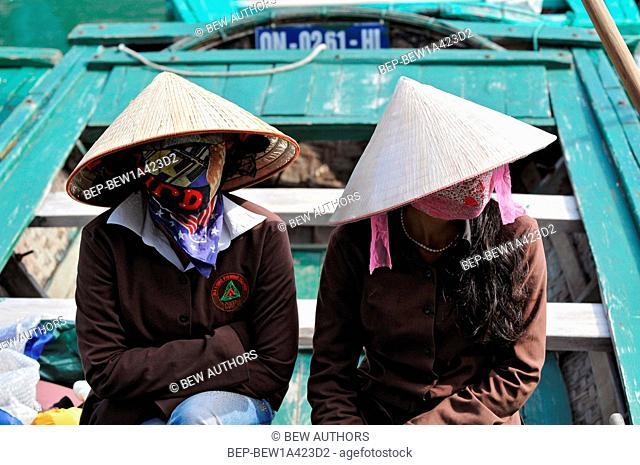Vietnam, Ha Long Bay, Floating Villages of Ha Long Bay Vietnam
