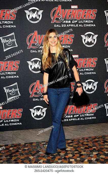 romanoff; nicoletta romanoff; actress ; celebrities; 2015;rome; italy;event; red carpet ; avengers, age of ultron